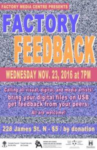 Factory Feedback – Nov 23, 7PM